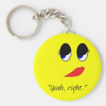 Skeptical Face Keychains