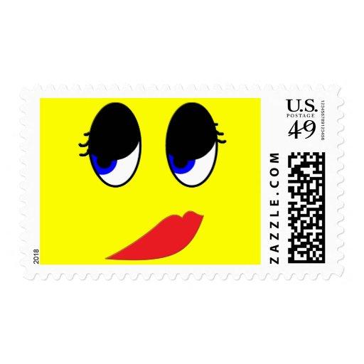 Skeptical Face Postage Stamp