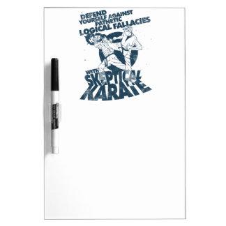 Skeptical Karate Dry Erase Board