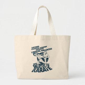 Skeptical Karate Large Tote Bag