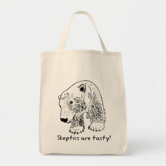 Skeptics are tasty! Grocery Tote