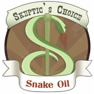 Skeptic's Choice Snake Oil Photo Sculpture Button