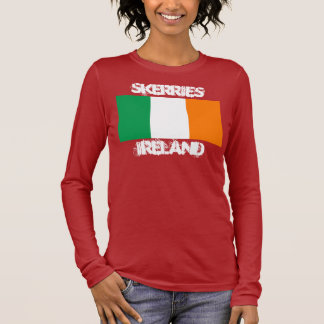 Skerries, Ireland with Irish flag Long Sleeve T-Shirt