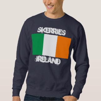 Skerries, Ireland with Irish flag Sweatshirt