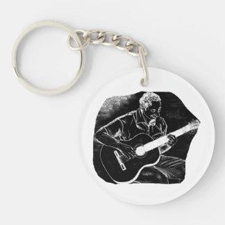 sketc del lápiz del jugador invertido de la guitar llavero