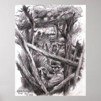 Sketch Artist Rifleman print