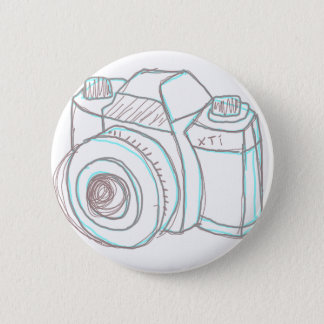 sketch camera pinback button