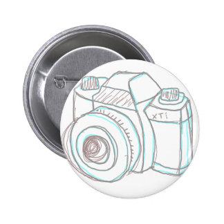 sketch camera pinback button
