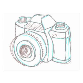 sketch camera postcard
