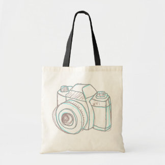 sketch camera tote bag