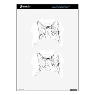 Sketch Cat Animal Xbox 360 Controller Skin