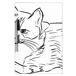 Sketch Cat Kitten Dry-Erase Whiteboard