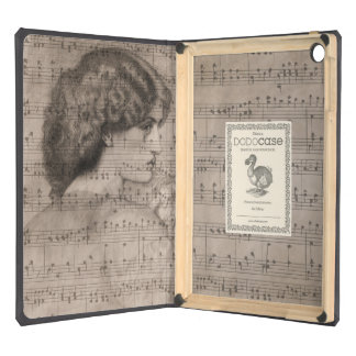 Sketch Classic Woman & Sheet Music iPad Hard Case Cover For iPad Air