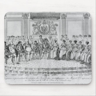 Sketch depicting Napoleon I and the sovereigns Mouse Pad