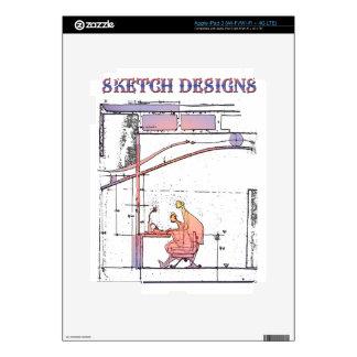 sketch designs iPad 3 decal
