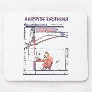 sketch designs tapetes de ratón