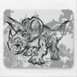 Sketch Doodle Triceratops Dinosaur   Mouse Pad