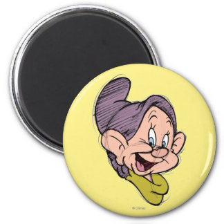 Sketch Dopey 2 Inch Round Magnet