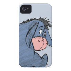Sketch Eeyore 1 Iphone 4 Cover at Zazzle