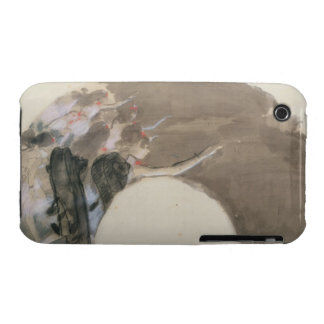 Sketch for a fan, c.1879 (pastel and chalk) iPhone 3 case