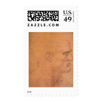 Sketch for Leonardo da Vinci s Last supper Stamp