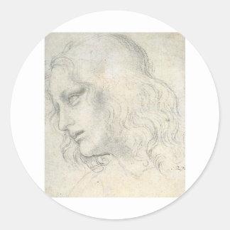 sketch for Leonardo da Vinci's Last supper.. Classic Round Sticker