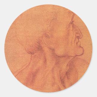 sketch for Leonardo da Vinci's Last supper. Classic Round Sticker