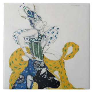 Sketch for the ballet 'La Peri', by Paul Dukas Tile