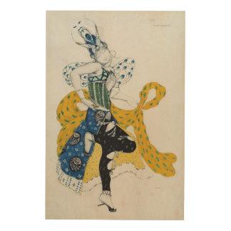 Sketch for the ballet 'La Peri', by Paul Dukas Wood Wall Art