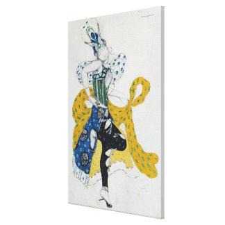 Sketch for the ballet 'La Peri' Canvas Print