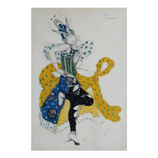 Sketch for the ballet 'La Peri' Posters