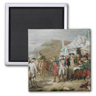 Sketch for the Battle of Yorktown 2 Inch Square Magnet