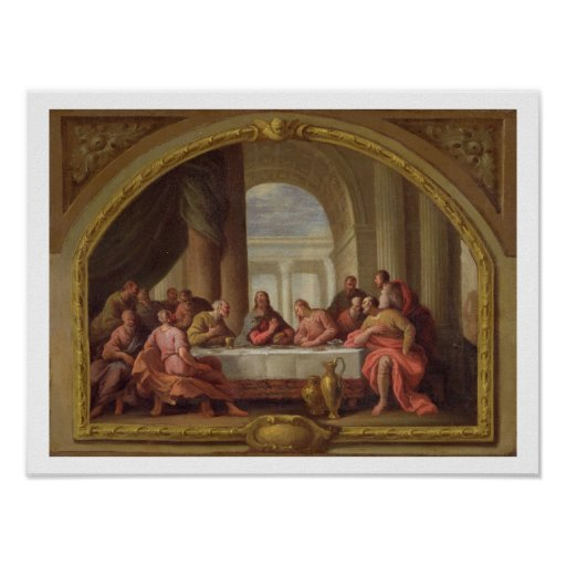 Sketch for 'The Last Supper', St. Mary's, Weymouth Poster
