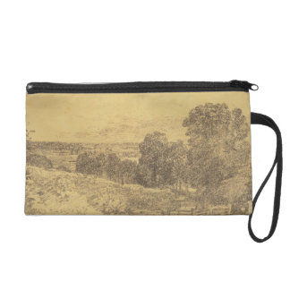 Sketch for the Painting Entrance to Fen Lane Wristlet Purse