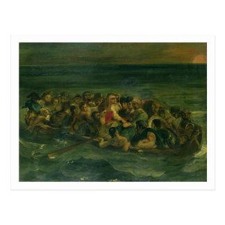 Sketch for The Shipwreck of Don Juan, 1839 (see al Postcard
