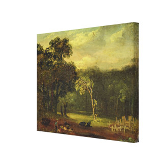 Sketch from Nature in Sion Park, 1819 (oil on card Canvas Print