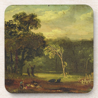 Sketch from Nature in Sion Park, 1819 (oil on card Drink Coaster