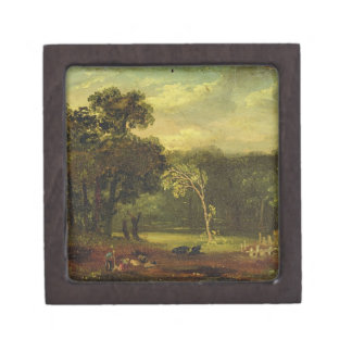 Sketch from Nature in Sion Park, 1819 (oil on card Jewelry Box