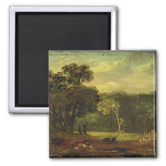 Sketch from Nature in Sion Park, 1819 (oil on card 2 Inch Square Magnet