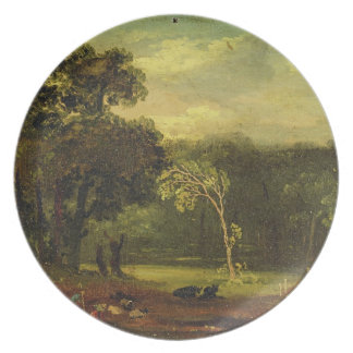 Sketch from Nature in Sion Park, 1819 (oil on card Dinner Plate