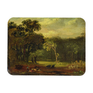 Sketch from Nature in Sion Park, 1819 (oil on card Rectangular Photo Magnet