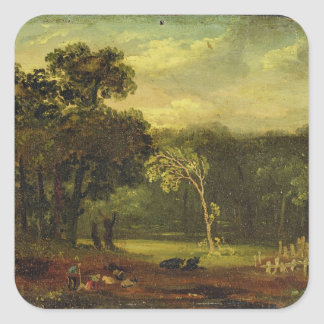 Sketch from Nature in Sion Park, 1819 (oil on card Square Sticker
