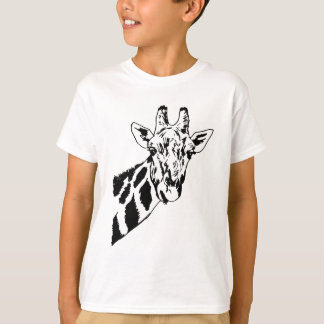 Sketch Giraffe Head T-Shirt