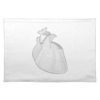 Sketch Heart Cloth Place Mat