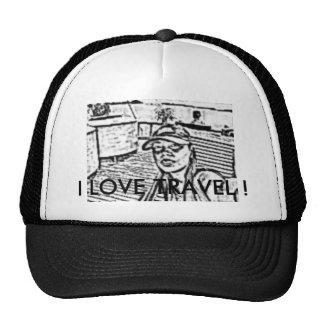 sketch, I LOVE TRAVEL ! Trucker Hat