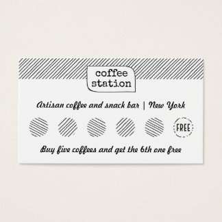 Sketch Lines Personalized Punch Stamp Loyalty Card