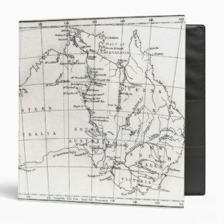 Sketch map of Australia Binders