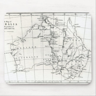 Sketch map of Australia Mouse Pad