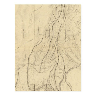 Sketch Map showing The Faults Post Cards