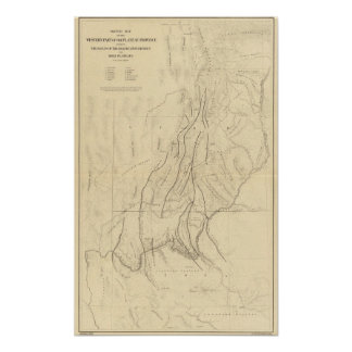 Sketch Map showing The Faults Poster
